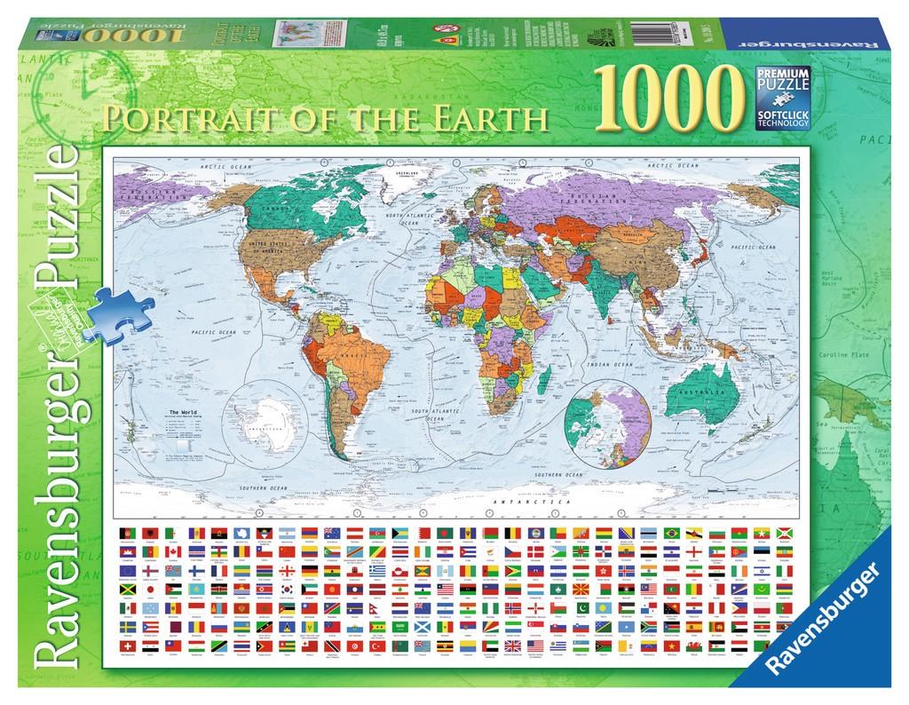 Puzzle Maps - Ravensburger satellite world map puzzle